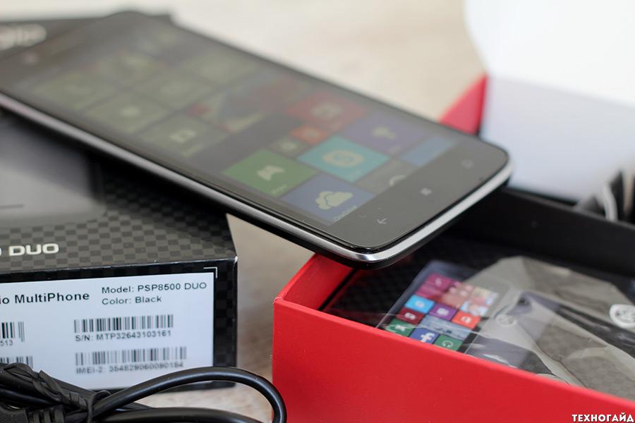 Prestigio MultiPhone 8500 DUO на Windows Phone 8.1