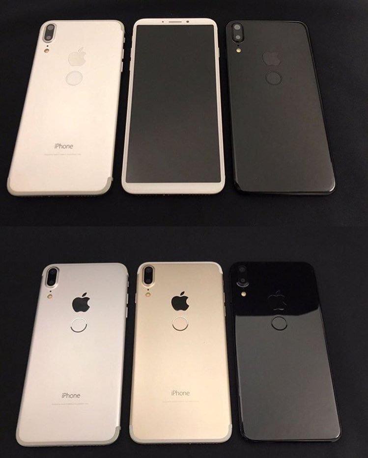 «Шпионские» снимки прототипов iPhone 8