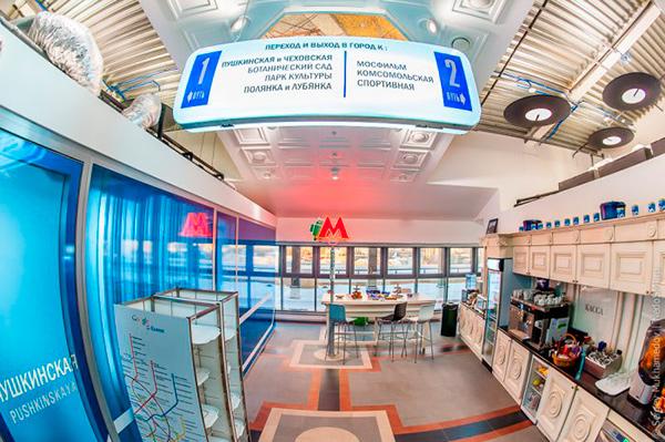 Интерьер офиса Google в стиле московского метро