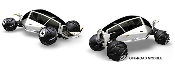 Концепт машины-вездехода с уникальной конструкцией