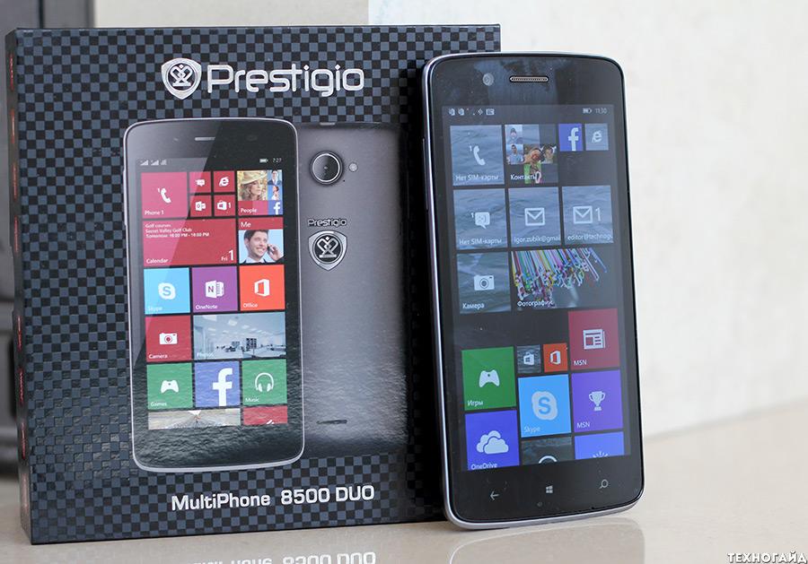 Обзор смартфона Prestigio MultiPhone 8500 DUO на Windows Phone 8.1