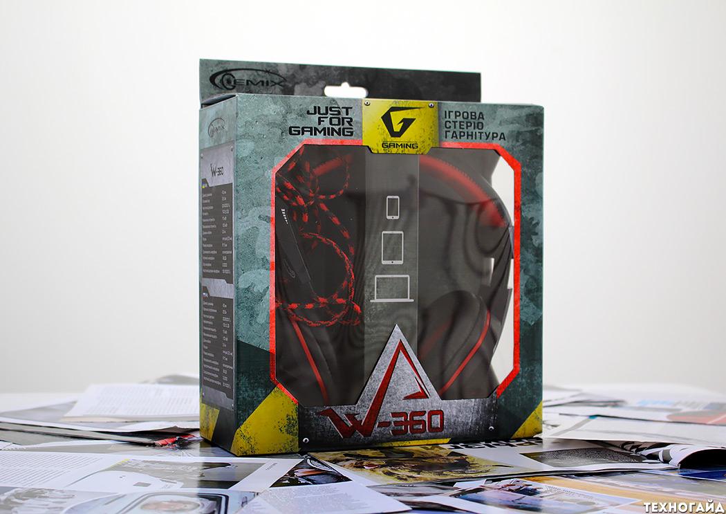 Стереогарнитура Gemix W-360