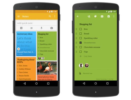 В Google Keep добавили возможность совместной работы