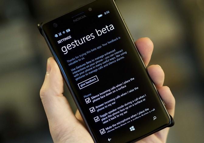 Windows-смартфонами теперь можно управлять с помощью жестов