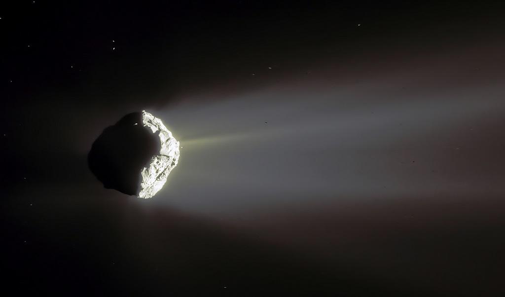 самый эффектный снимок кометы Чурюмова-Герасименко