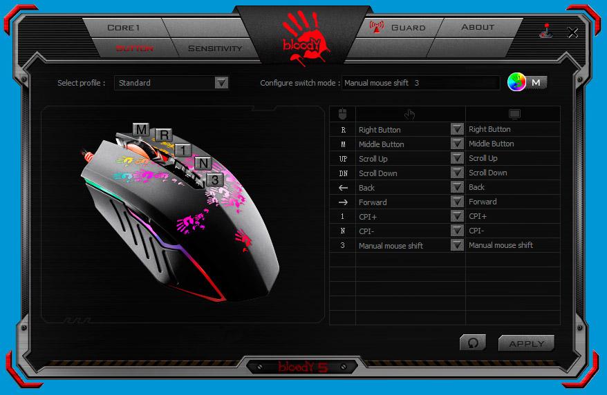 Мышь A4 Bloody N50 Neon белый оптическая (4000dpi) USB2.0 игровая (8but)