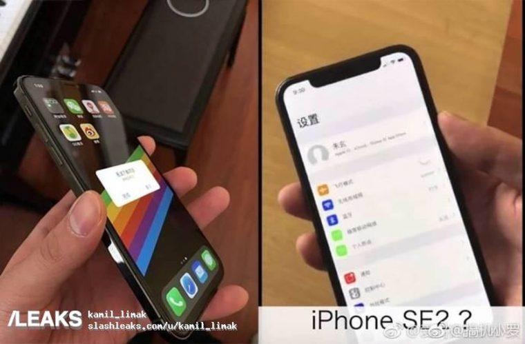 С монобровью: в сети появился снимок iPhone SE 2 с включенным экраном
