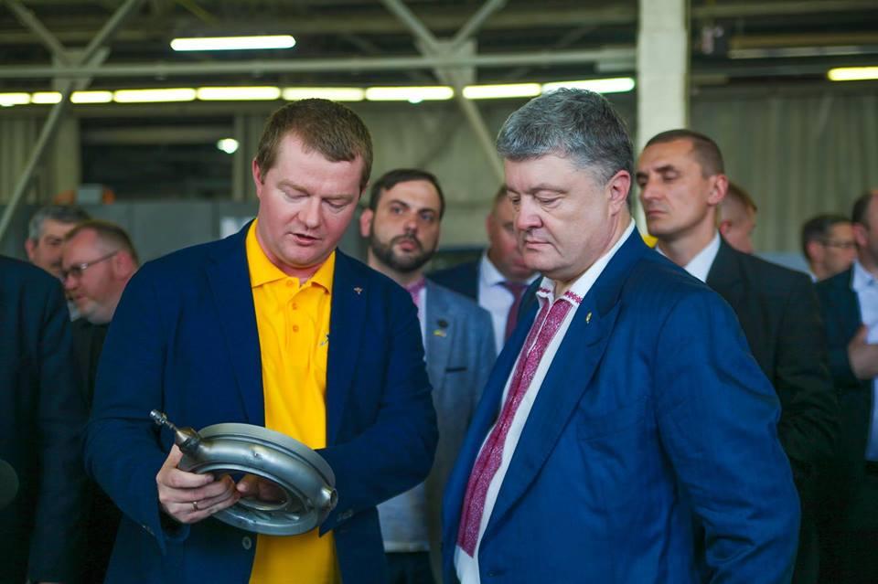 Макс Поляков и Петр Порошенко