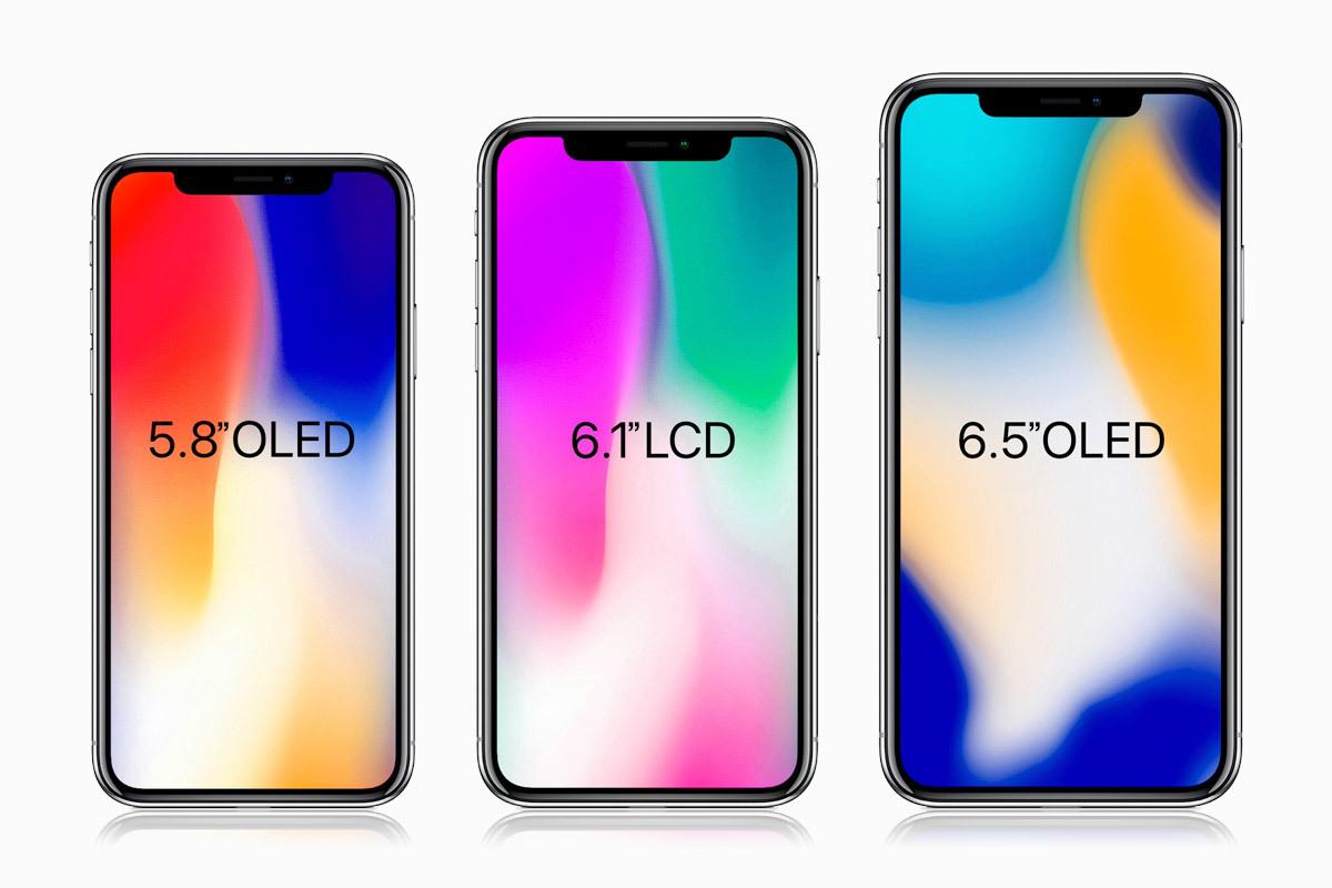 Apple готовит три новых iPhone с дизайном iPhone X