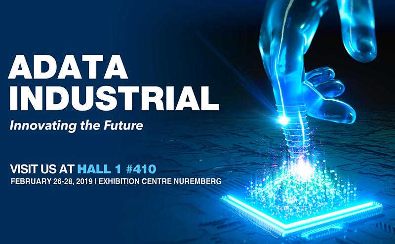 ADATA представит на Embedded World 2019 полную линейку индустриальных систем хранения